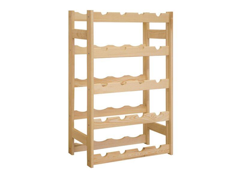 Lux Regał Drewniany Na Butelki 70 Cm X 43 Cm X 25 Cm